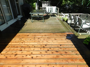 Cottage exterior and dock cleaning